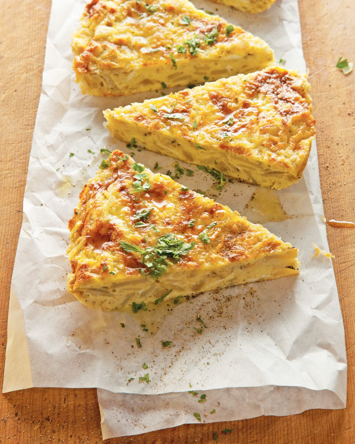 Vegetable Frittata / Photo by Todd Coleman / Katie Workman / themom100.com