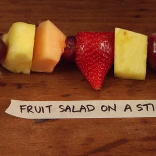 Fruit Salad on a Stick