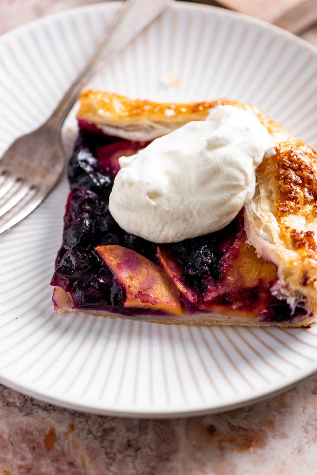 Blueberry and Peach Crostada