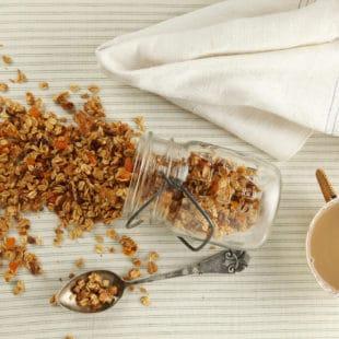 Crunchy Chewy Granola in a jar
