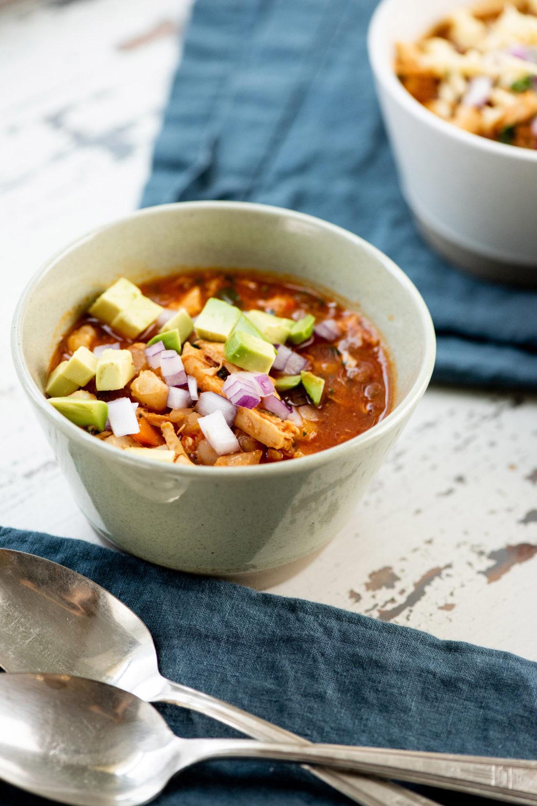 Turkey Posole Soup / Photo by Cheyenne Cohen / Katie Workman / themom100.com