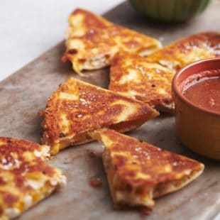 Easy Rotisserie Chicken and Cheese Quesadillas