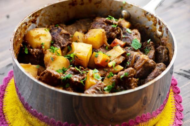 Apple Cider Beef Stew / Katie Workman / themom100.com / Photo by Cheyenne Cohen
