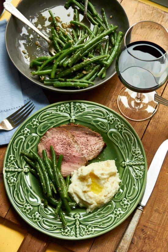 Roast Beef with Mustard Garlic Crust and Horseradish Sauce / Mia / Katie Workman / themom100.com