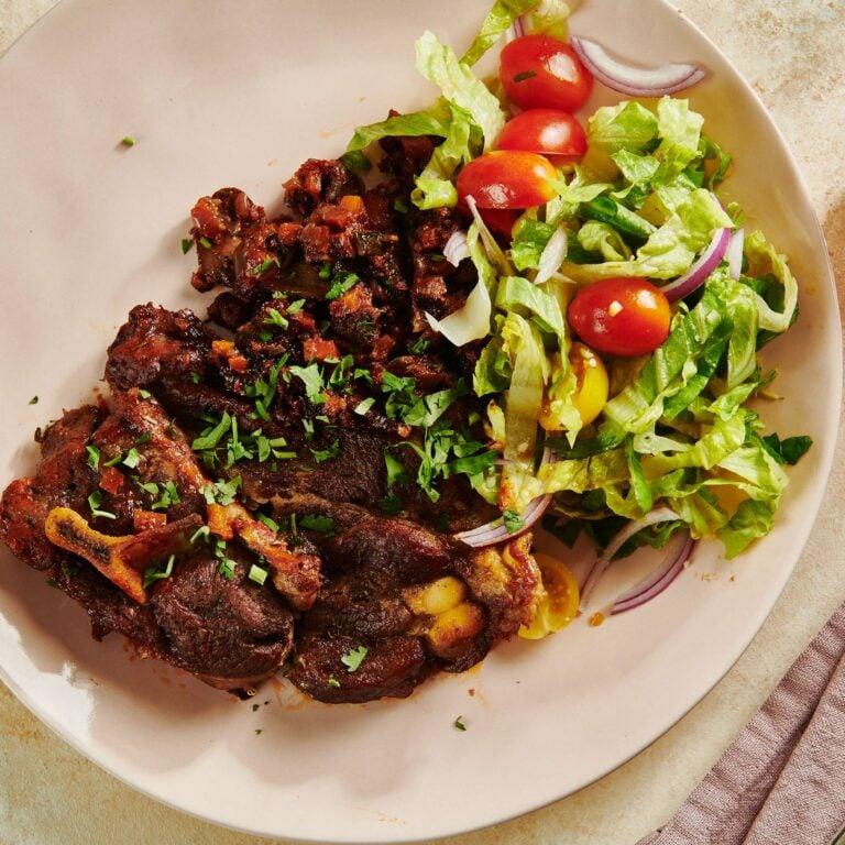Mediterranean Braised Lamb Shoulder Chops