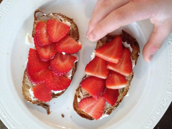 Ricotta Berry Breakfast Crostini