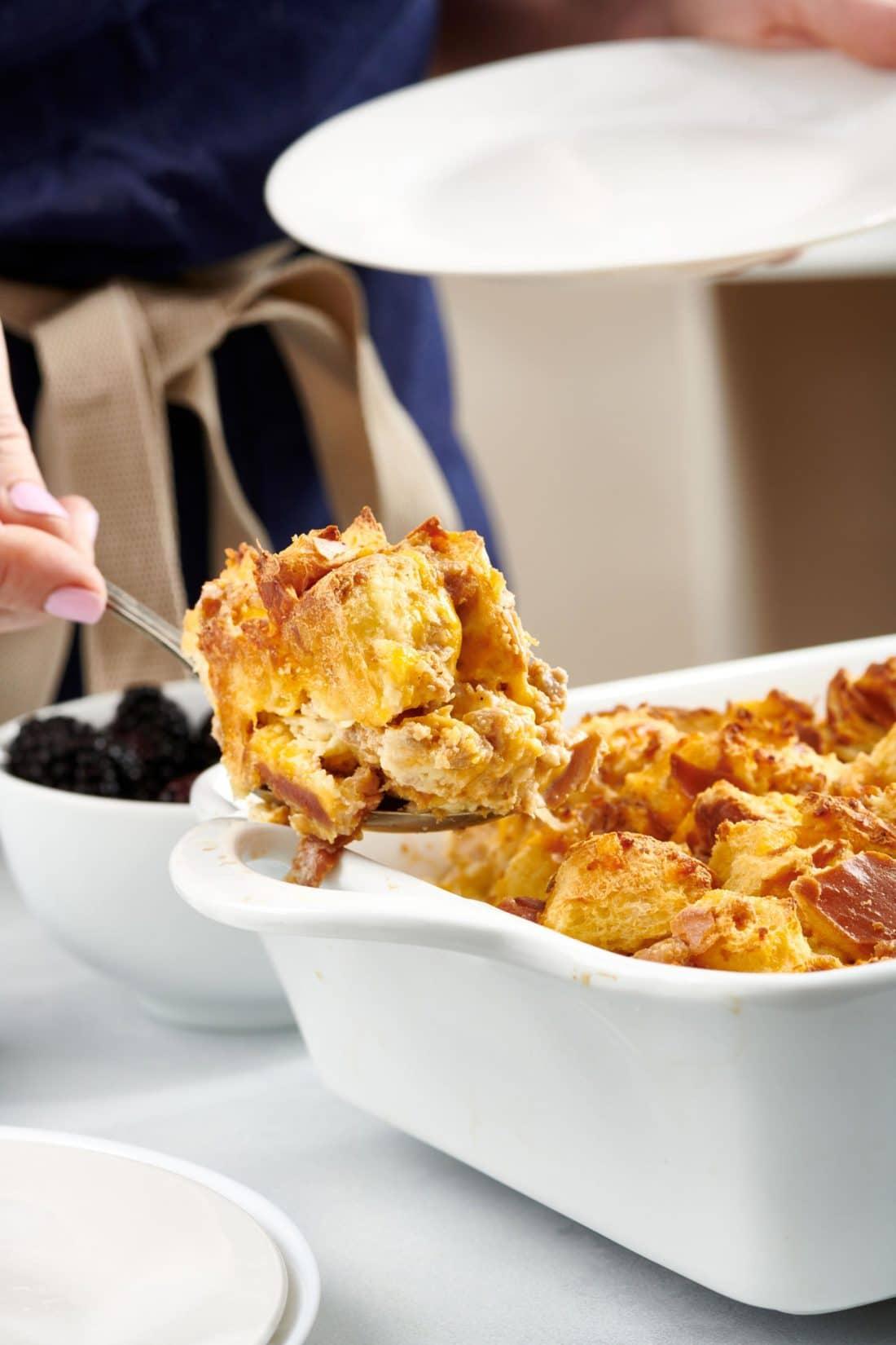 Savory Challah Bread Pudding