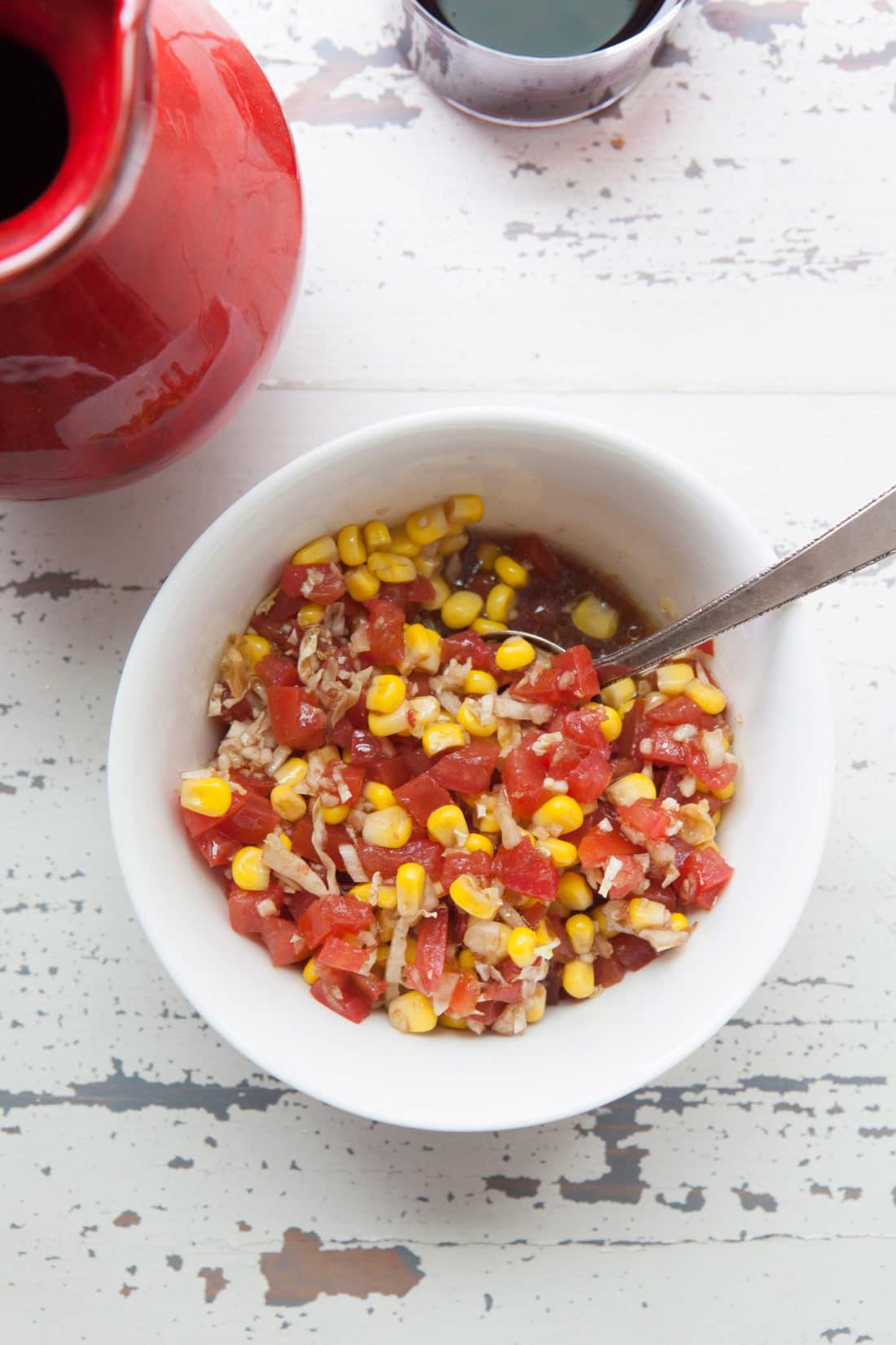 corn tomato salsa / Photo by Kerri Brewer / Katie Workman / themom100.com