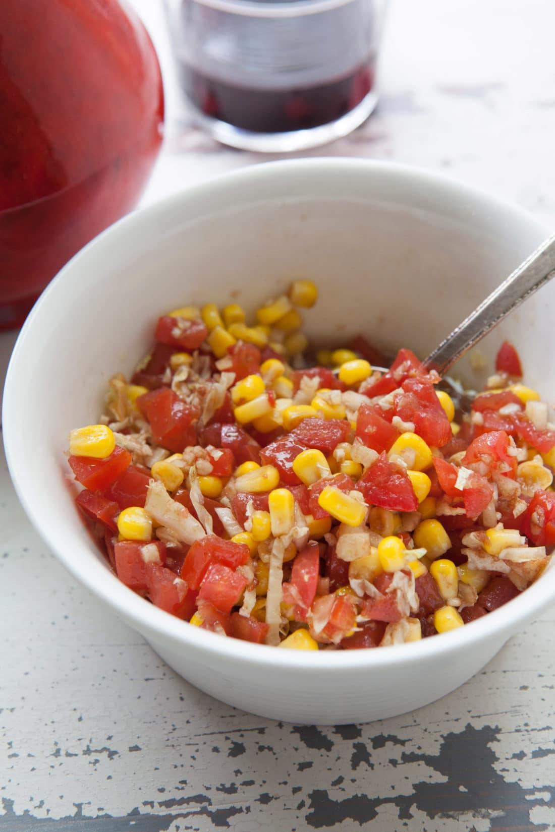 Summer Tomato-Corn Relish / Photo by Kerri Brewer / Katie Workman / themom100.com
