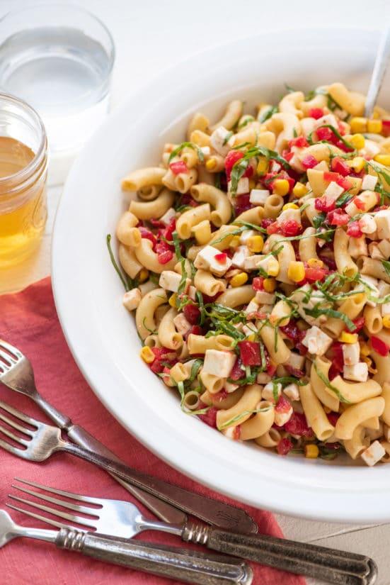 Tomato Mozzarella Pasta Salad / Photo by Cheyenne Cohen / Katie Workman / themom100.com