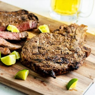 Grilled Mexican Rib-Eye Steaks / Katie Workman / themom100.com / Photo by Cheyenne Cohen