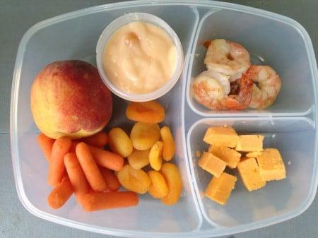 an all orange school lunch