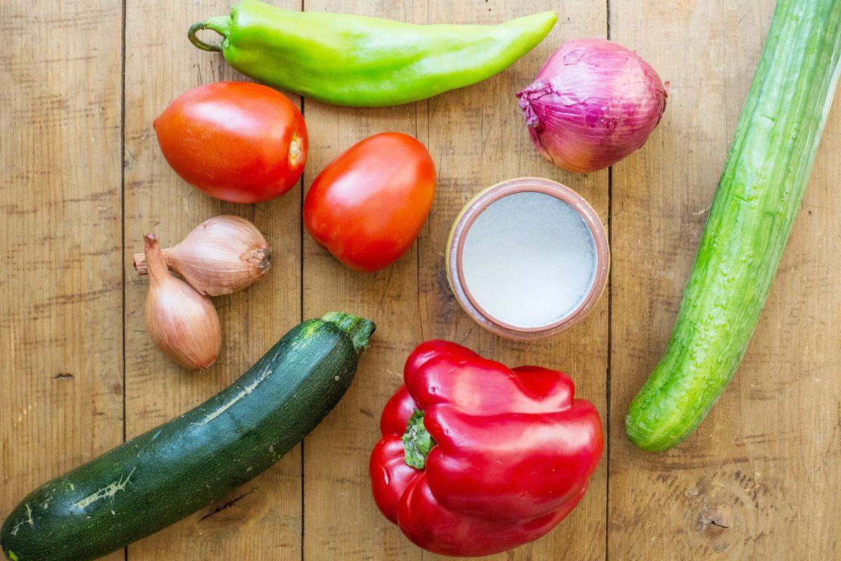 Gazpacho Vegetables