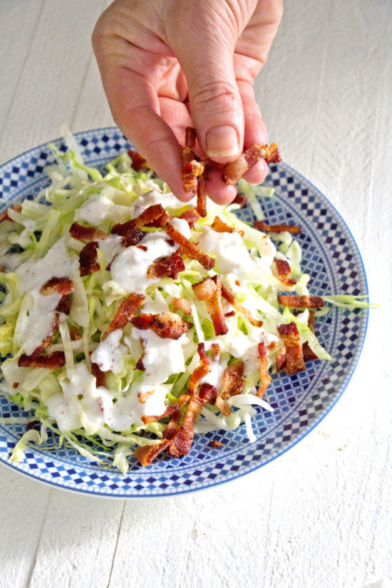 Slivered Wedge Salad with Buttermilk Dressing and Bacon / Photo by Mandy Maxwell / Katie Workman / themom100.com