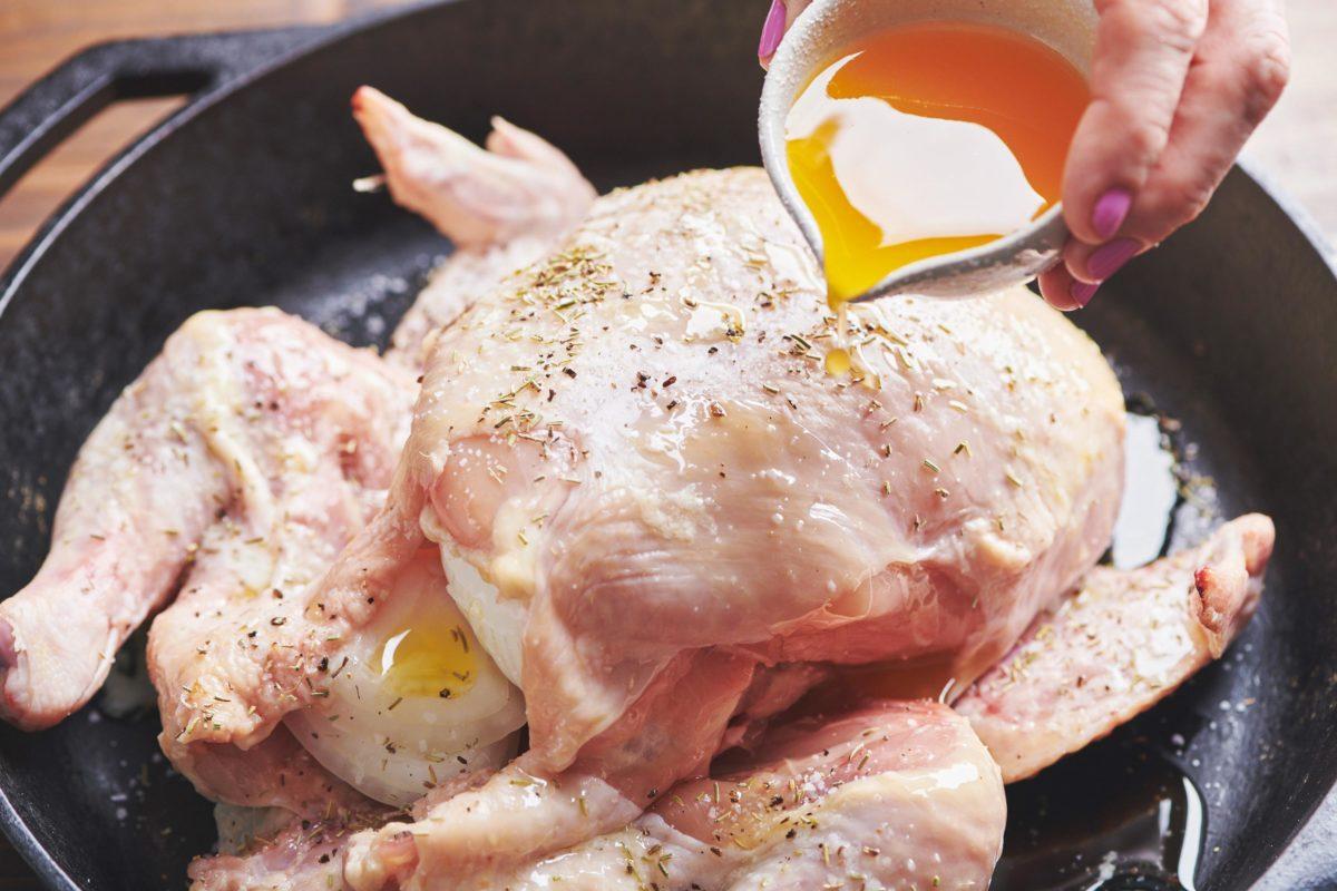 Roasted Chicken with Orange Honey Mustard Glaze