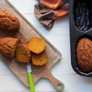 Moist Mini Pumpkin Loaves / Carrie Crow / Katie Workman / themom100.com
