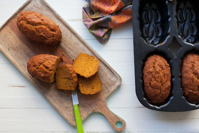 Moist Mini Pumpkin Loaves / Carrie Crow / Katie Workman / themom100.com