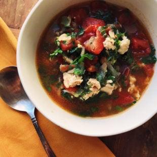 Fragrant Chicken Tomato Soup / Katie Workamn / themom100.com