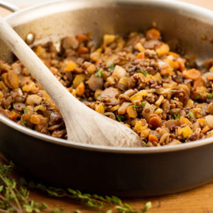 Lentils and Carrots with Dried Apricots / Photo by Cheyenne Cohen / Katie Workman / themom100.com