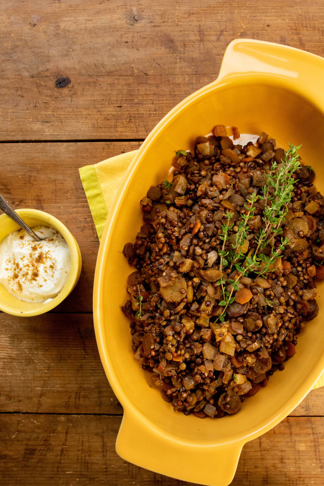 Lentils and Carrots with Dried Apricots