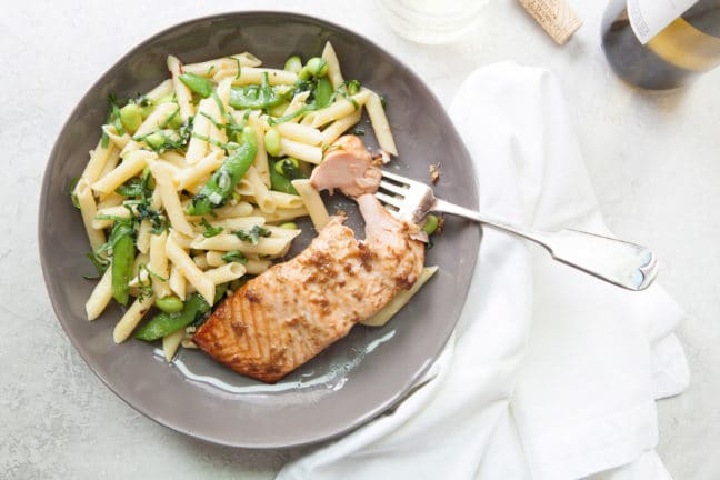 Horseradish Ginger Salmon / Photo by Kerri Brewer / Katie Workman / themom100.com