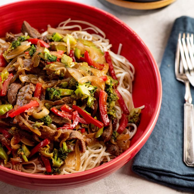 Spicy Stir Fried Beef and Vegetables / Photo by Cheyenne Cohen / Katie Workman / themom100.com