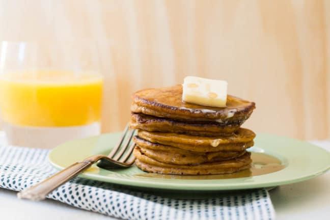 Spiced Pumpkin Pancakes / Sarah Crowder / Katie Workman / themom100.com