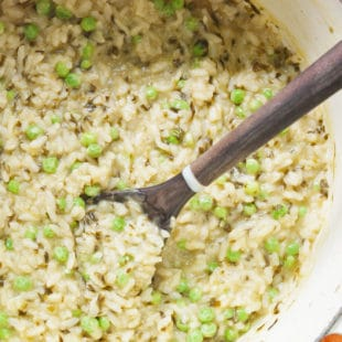 Spring Ramp and Pea Risotto