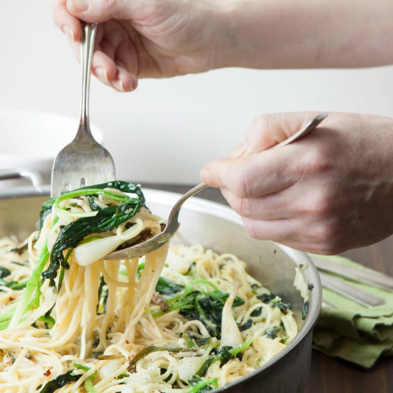 Simple Ramp Pasta / Photo by Kerri Brewer / Katie Workman / themom100.com