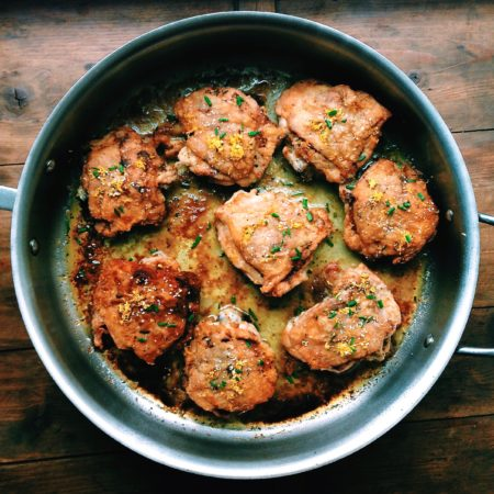 Rosemary and Lemon Roasted Chicken Thighs from Katie Workman / themom100.com