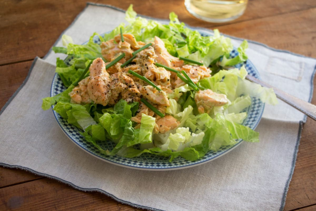 Salmon Salad with Jalapeno Scallion Dressing / Mandy Maxwell / Katie Workman / themom100.com