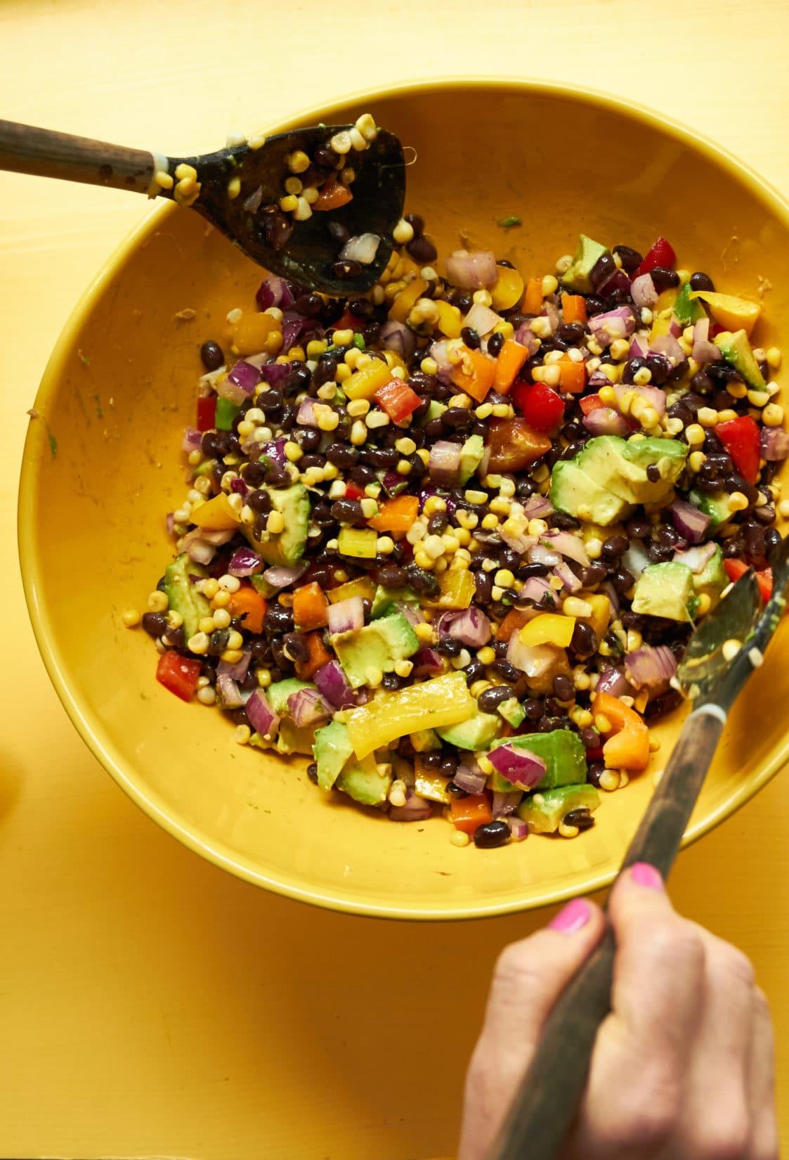 Southwest Black Bean and Corn Salad / Mia / Katie Workman / themom100.com