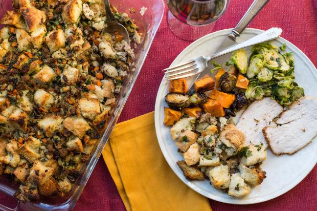 Bread Stuffing with Turkey Sausage / Sarah Crowder / Katie Workman / themom100.com