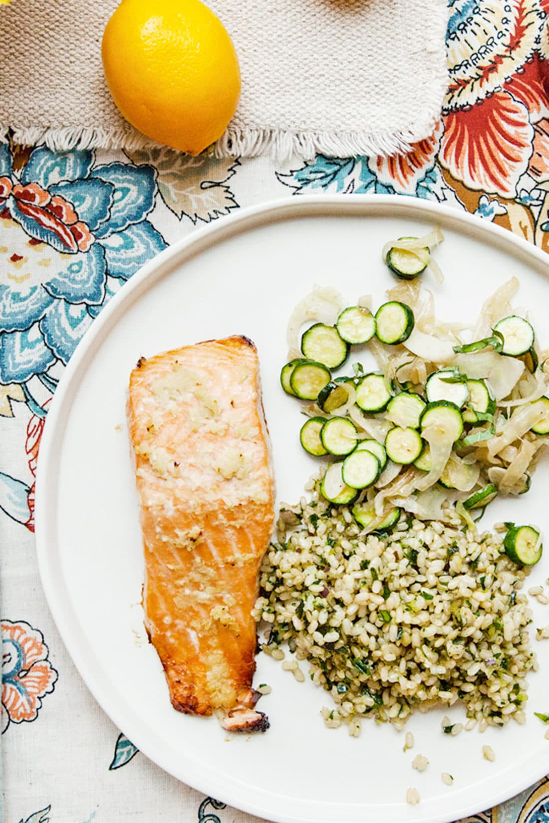 Thai Salmon with Herby Brown Rice / Carrie Crow / Katie Workman / themom100.com