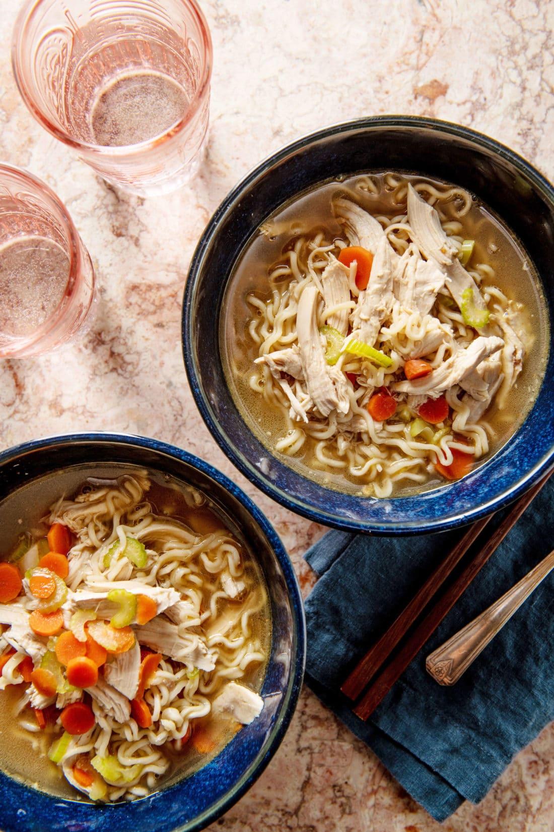 The Easiest Shortcut Chicken Ramen Noodle Soup