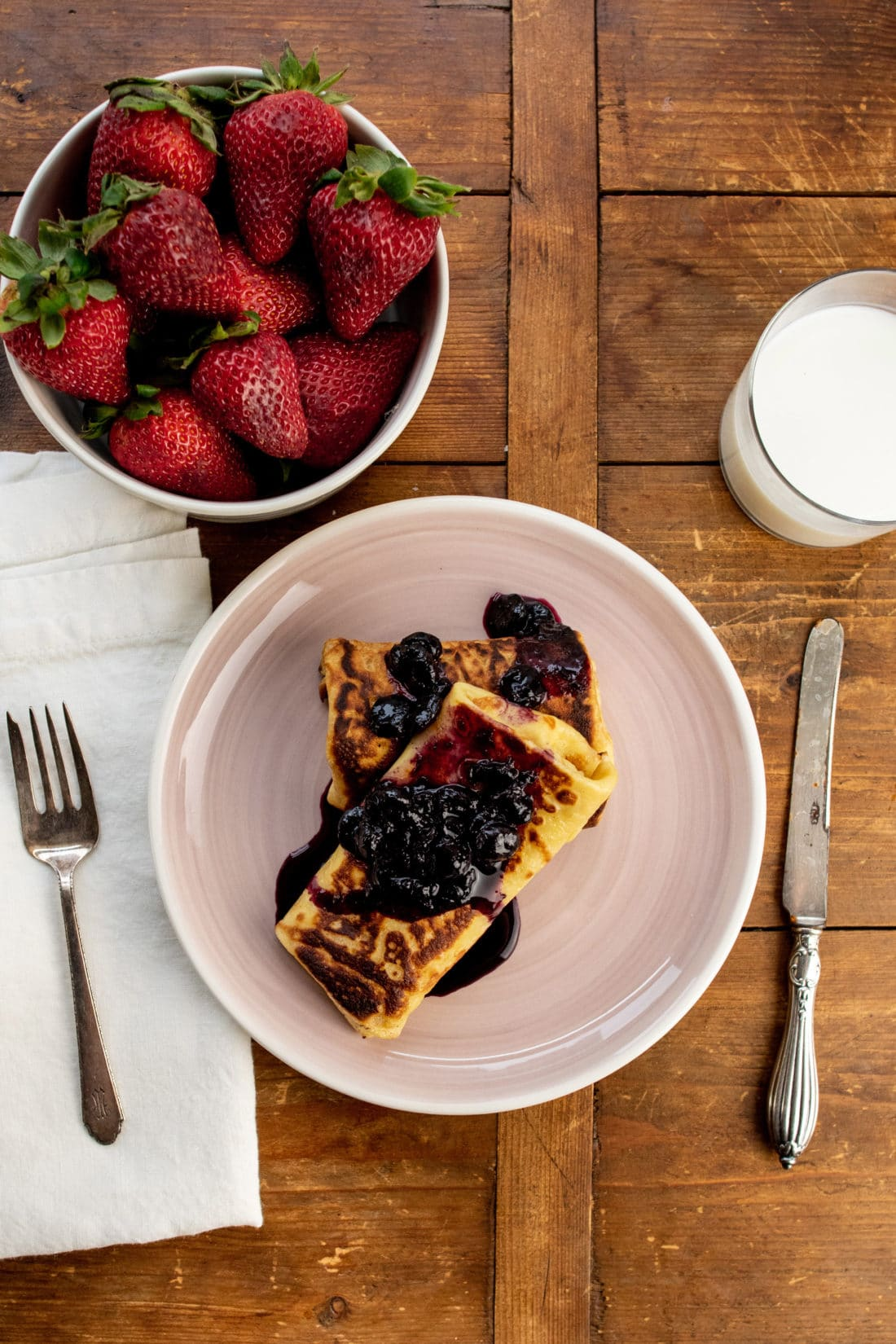 Creamy Stuffed Breakfast Crepes / Photo by Cheyenne Cohen / Katie Workman / themom100.com