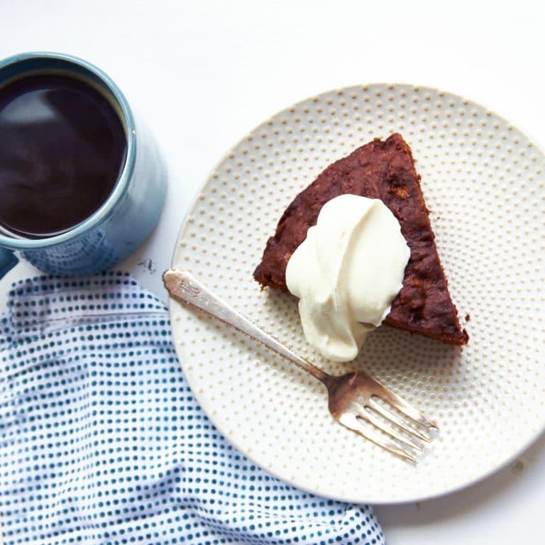 Chocolate Banana Cake / Mia / Katie Workman / themom100.com