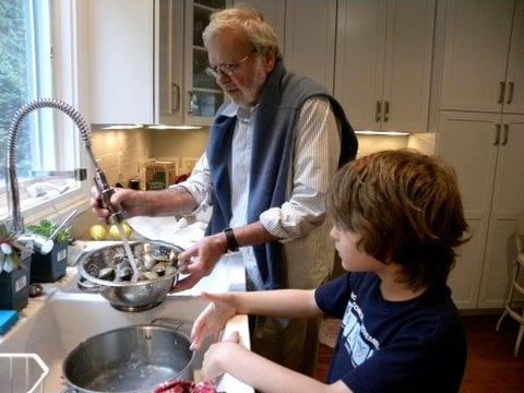 Jack Cleaning Shellfish