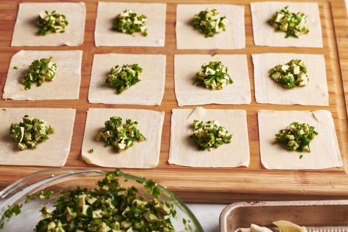 Shiitake Mushroom and Spinach Dumplings