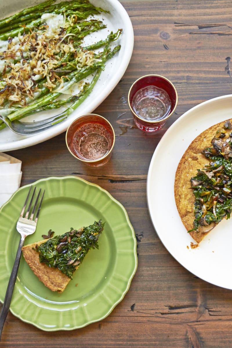 Big Biscuit with Swiss Chard and Mushrooms / Mia / Katie Workman / themom100.com