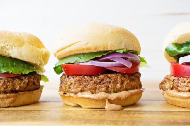 Chipotle Barbecue Turkey Burgers / Mandy Maxwell / Katie Workman / themom100.com