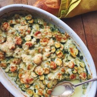 Baby Zucchini Gratin / Katie Workman themom100.com