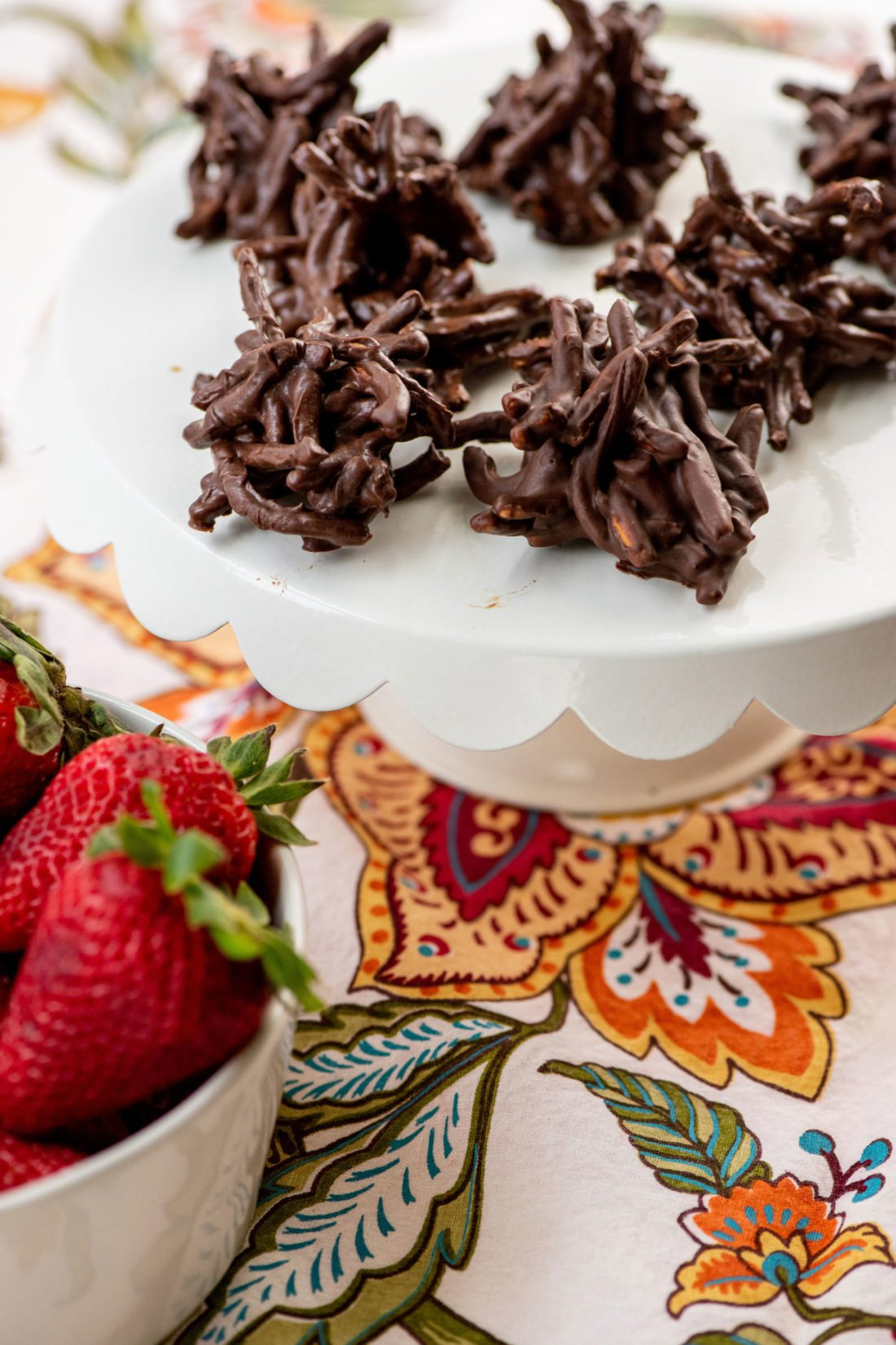 Chocolate, Peanut and Pretzel No-Bake Haystack Cookies / Photo by Cheyenne Cohen / Katie Workman / themom100.com