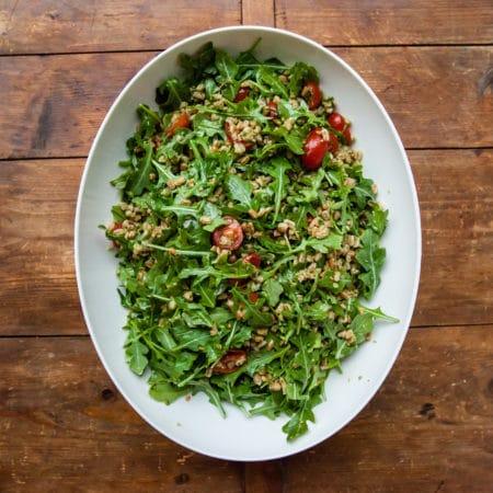 Farro and Tomato Salad / Carrie Crow / Katie Workman / themom100.com