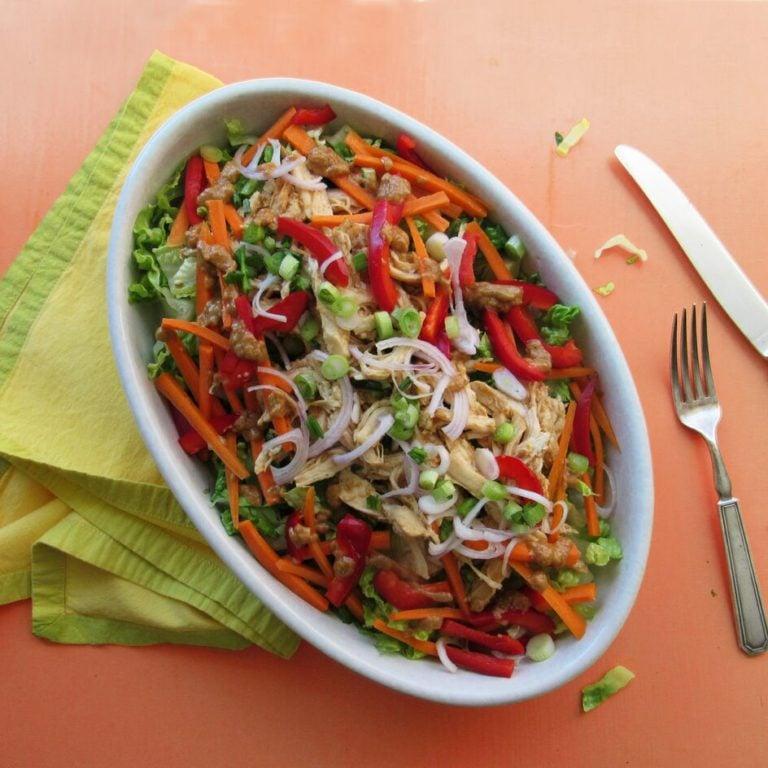 Chicken Sate Salad / Laura Agra / Katie Workman / themom100.com