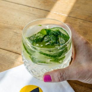 Cucumber Mint Gin and Tonic / Sarah Crowder / Katie Workman / themom100.com