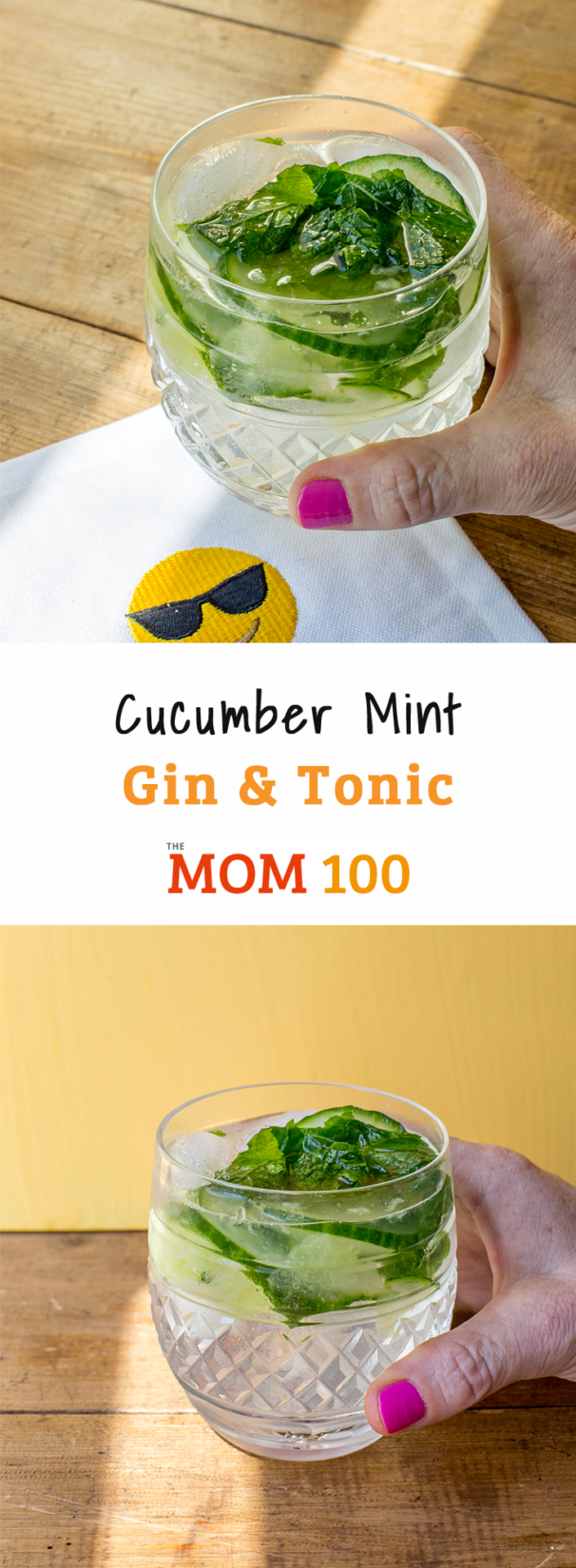 gin and tonic with mint and cucumber for mom 100