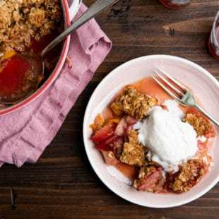 Plum and Nectarine Crisp