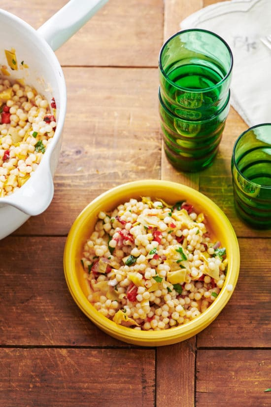Artichoke, Feta and Roasted Pepper Couscous Salad