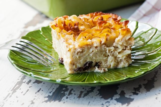 piece of Noodle Kugel on a plate